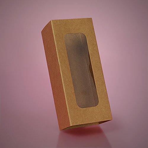 Cardboard Kraft Long Window Macaron Box Sleeve 6