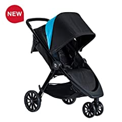 Cruise smooth with the B-Lively stroller, featuring all-wheel suspension and a lightweight design for everyday strolling. The cool flow mesh fabric improves air flow to keep your baby cool and comfy while you stroll. There's room for all your...
