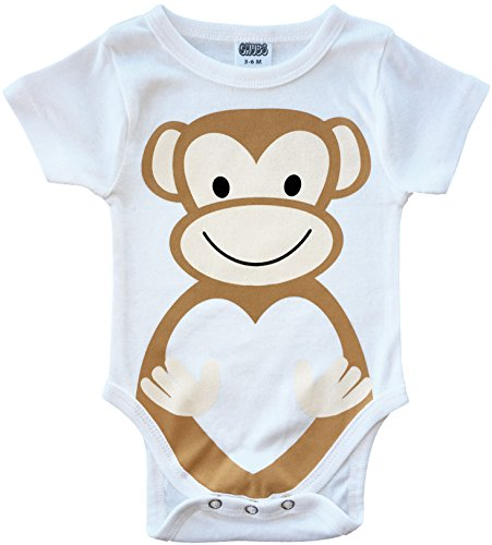 CHUBS MONKEY BIZ - Funny Baby Bodysuit, Clothes