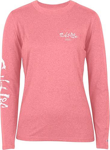 Salt Life Women's State of Mind Long Sleeve Shirt (XL, Coral Heather)
