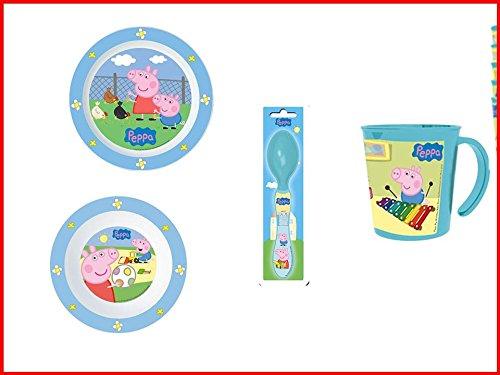 Peppa pig, 0059, Vajilla infantil apta para microondas. Productos ...