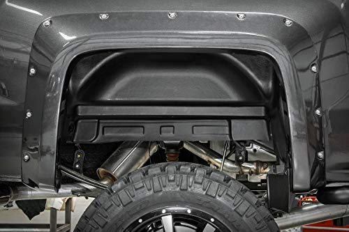 (Rough Country 4216 - Rear Wheel Well Liners (2) (fits) GMC 2014-2018 Sierra 1500 2014-2018 Sierra 2500 HD)