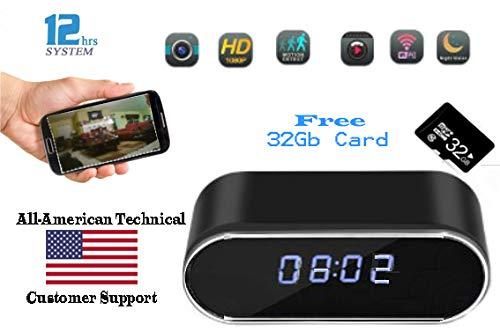 Spy Memory - Nanny Spy Hidden Camera Clock SANDS SCIENTIFIC Free 32Gb Memory Loop Record Motion Activated IP Camera