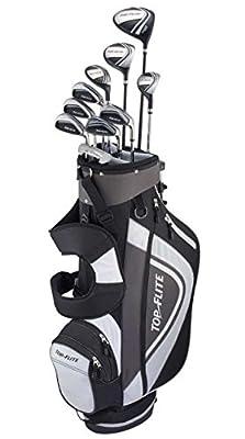 Top Flite XL 13-Piece Complete Golf Set Mens Regular Flex -Black/Grey- New 2018