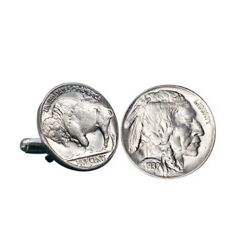 Smithsonian Institution Buffalo Nickel Coin Cuff Links