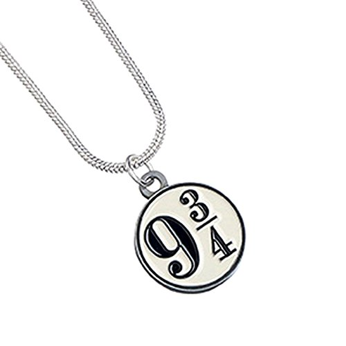 Harry Potter Silver Plated Platform 9 3/4 Necklace