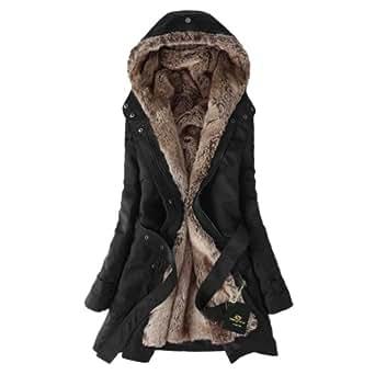 Amazon.com: Hee Grand Women Thicken Fleece Faux Fur Warm
