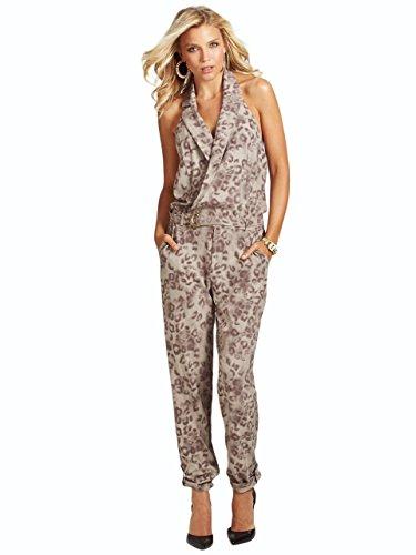 GUESS Women's Sleeveless Leopard-Print Jumpsuit
