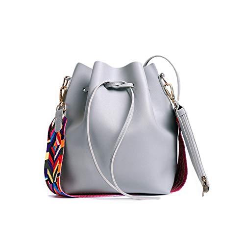 messenger bucket bag color shoulder strap shoulder bag,Gray