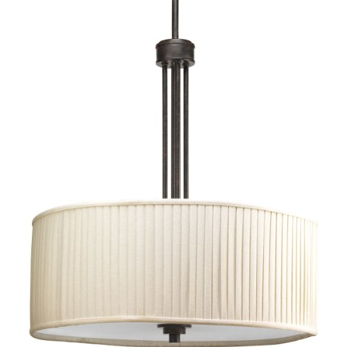 Progress Lighting P3909-84 3-Light Clayton Pendant Stem Mount, Espresso