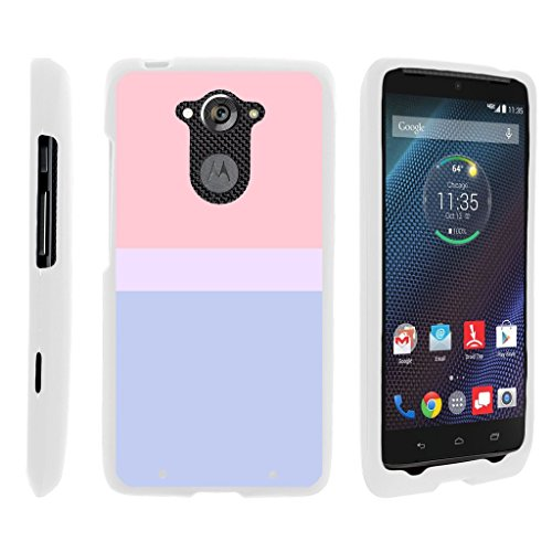MINITURTLE Case Compatible w/ Miniturtle [Motorola Droid Turbo Case, Moto Maxx Slim Cover] [Snap Shell] 2 Piece Hard Cover Snap On Protector White Case Sunset Pastel