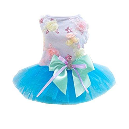 Boomboom Adorable Dog Dress Clothes Grid Skirt for Small Medium Pet Dog (L, -