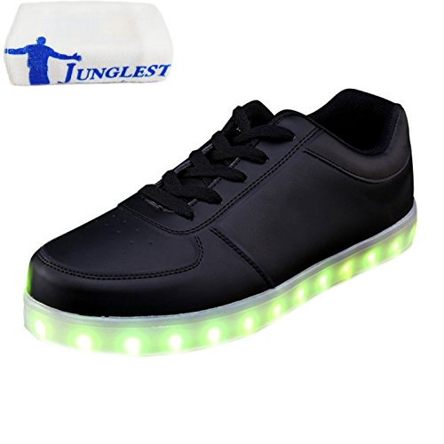 c12 LED 7 Deportivos Unisex Zapatos Hombres Colores Peque Light USB Presente Toalla Luz Up Glow de Luminosos a Flashing Carga Mujeres junglest Sneakers wRBqPx0