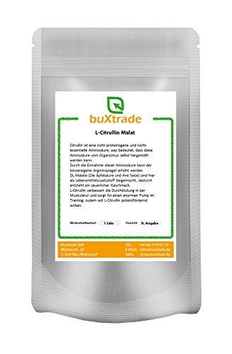 L-Citrullin Malat Pulver - L Citrullin DL-Malat 2:1 Fitness Pump Sport VERSCHIEDENE GRÖßEN