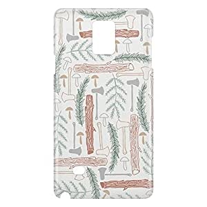 Loud Universe Samsung Galaxy Note 4 3D Wrap Around Wild Print Cover - Multi Color