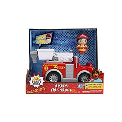 Jada Toys Ryan's World Fire Truck with Ryan Figure, 6