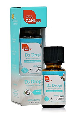 Zahler Vitamin D3 400 IU, Vitamin D Drops for infants, Certified Kosher, . 5OZ