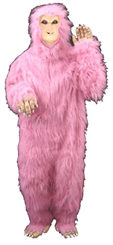 Adult Suit Professional Pink Gorilla Costume Pink Face