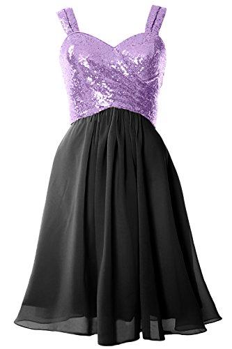 black Lavender Gorgeous Formal Dress Bridesmaid Cocktail Sequin Gown Macloth Cowl Back Short 7xpqxS