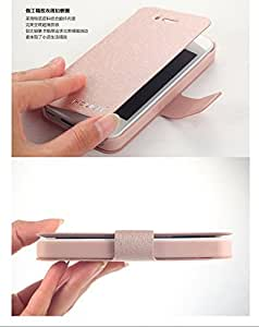 Ultra-thin latest fit for apple iphone6/6 plus leather flip creative silk holster shell