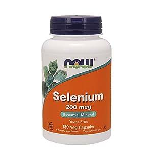 Now Foods Selenium, 180 caps / 200 mcg