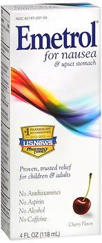 Emetrol Anti-Nausea Cherry Flavor Liquid - 4 oz, Pack of 5 by Emetrol