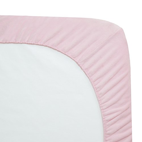 """American Baby Company Pack of 2 Heavenly Soft Chenille Fitted Crib Sheet for Standard Crib and Toddler Mattresses, Pink, 28"""" x 52"""", for Girls"""