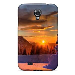 New Diy Design Wondrous Winter Sunrise For Galaxy S4 Cases Comfortable For Lovers And Friends For Christmas Gifts