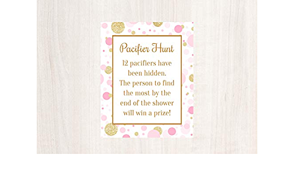 PBBQBS Pacifier Hunt Pink Baby Q Sunflower Baby Shower BBQ Baby Shower Games Rustic Baby Shower BabyQ Printable Find the Pacifiers
