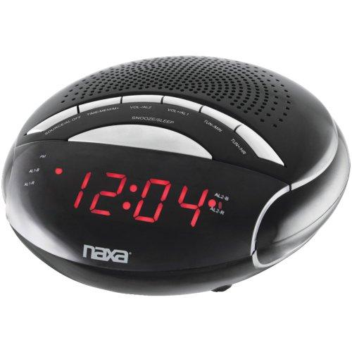 NAXA NRC170 Digital Alarm Clock with AM/FM Radio Consumer electronic