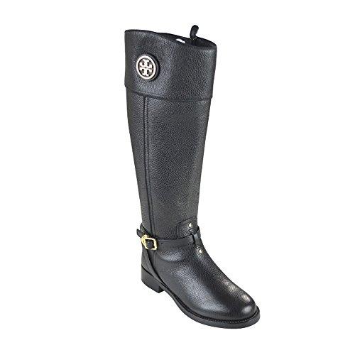 Tory Burch Teresa Riding Boot - Tumbled Leather - Black (...