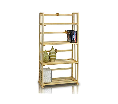 (Office Home Furniture Premium Pine Solid Wood 4-Tier)