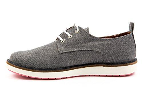 SHOOT - Zapatos de cordones de Lona para mujer 37 Gris - Azul