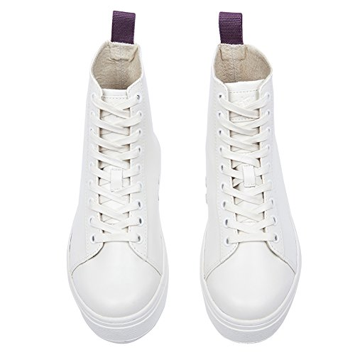 Eytys Dames Kibo Lederen High-top Sneakers Kiboleather White, Eu 37 / Us 6 ~ 6.5 (b)