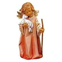 "3.5""Angel With Lamb & Staff Figure Fontanini. 3.5""H by Roman"