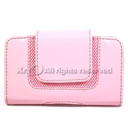 Kroo Pink Soho Case for Blackberry Curve 8300 - Soho Kroo Pink Leather