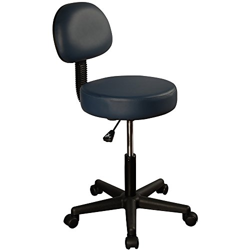 Master Massage Pneumatic Hydrolic Rolling Massage Clinical Spa Tattoo Office Swivel Stool with Backrest
