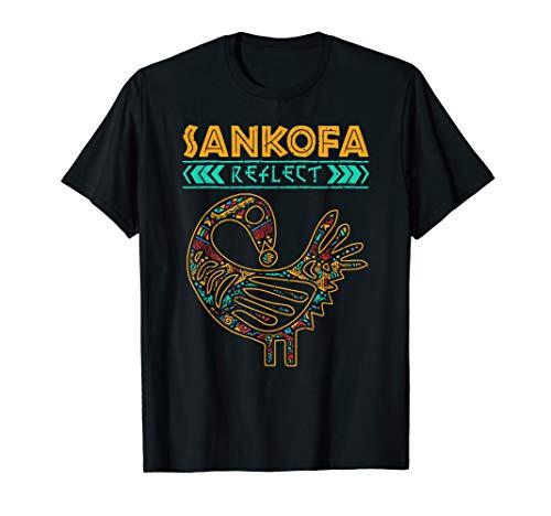 - Black History Sankofa African Bird Symbol T-Shirt