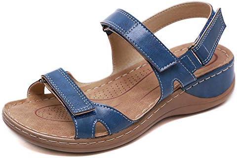 [해외]Aniywn Women`s Ladies Low Wedges Causal Shoes Beach Sandals Women Ankle Strap Buckle Sandals for Holiday Blue / Aniywn Women`s Ladies Low Wedges Causal Shoes Beach Sandals Women Ankle Strap Buckle Sandals for Holiday Blue