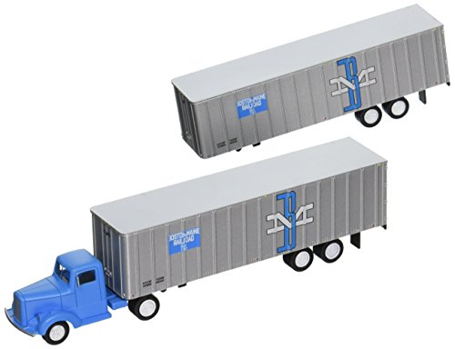 (Bachmann Industries Boston & Maine 1950's/60's Truck Cab Want Two Piggy Back Trailers (HO Scale Train))