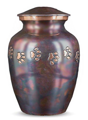 Classic Paws Raku Finish with Horizontal Copper Paws (Large) - Misc Urn