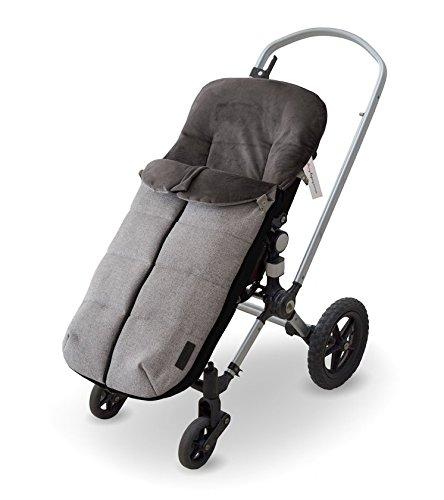 NBB Universal Elite - Saco de abrigo universal para silla de paseo, color gris melange