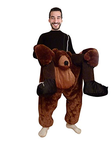 Fantasy World Brown-Bear Piggy-Back Halloween-Costume Men Women, Brown-Bear Costumes Adults, Carry-me Halloween-Costume, Mens Womens Costumes, Costume Ideas, Bear Suit, Fancy Dress, F100 Size (Easter Costumes Ideas)