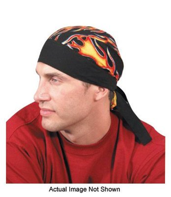 OccuNomix TN5-JFL Jungle Camouflage Tuff Nougies 100% Cotton Doo Rag Tie Hat With Plastic Hook Closure And Holographic Hangtag (1/EA)
