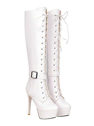 AIYOUMEI Women's Classic Boot White uSVxTA