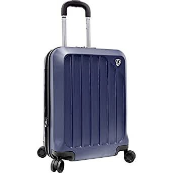"""Glacier 21"""" Hardshell Expandable Carry On Spinner Luggage Color: Navy"""