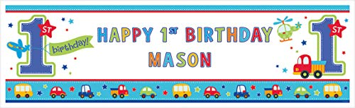 """All Aboard Boy"" Personalized Giant Sign Banner, Birthday"