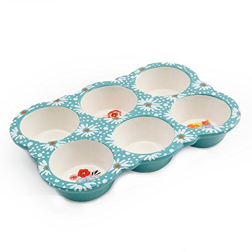 The Pioneer Woman Flea Market 10.5 Ceramic Muffin Pan (6) by Pioneer Woman