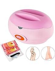 YAOBLUESEA Parafina baño, Rápido Calentador calefacción Flujo de Cera para Tratamiento Directo de Manos y pies Color Rosa