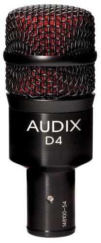 Audix D4 Dynamic Microphone, Hyper-Cardioid